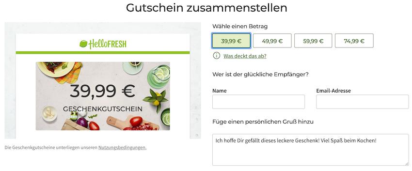 Www Hellofresh De Geschenkcode