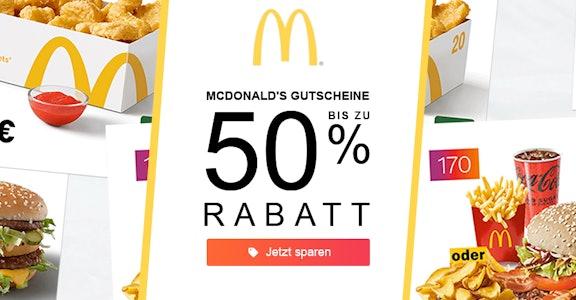 McDonalds: 50% Rabatt