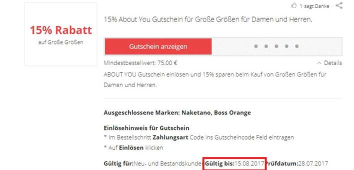 About You Gutschein 20 Prozent