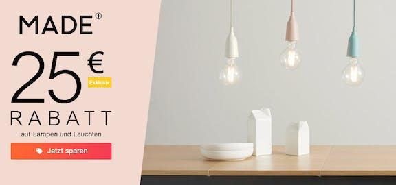 Made: 25€ auf Lampen & Leuchten