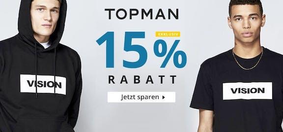 Topman: 15% Rabatt