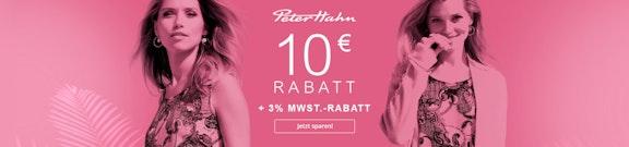 Peter Hahn: 10€ + 3%