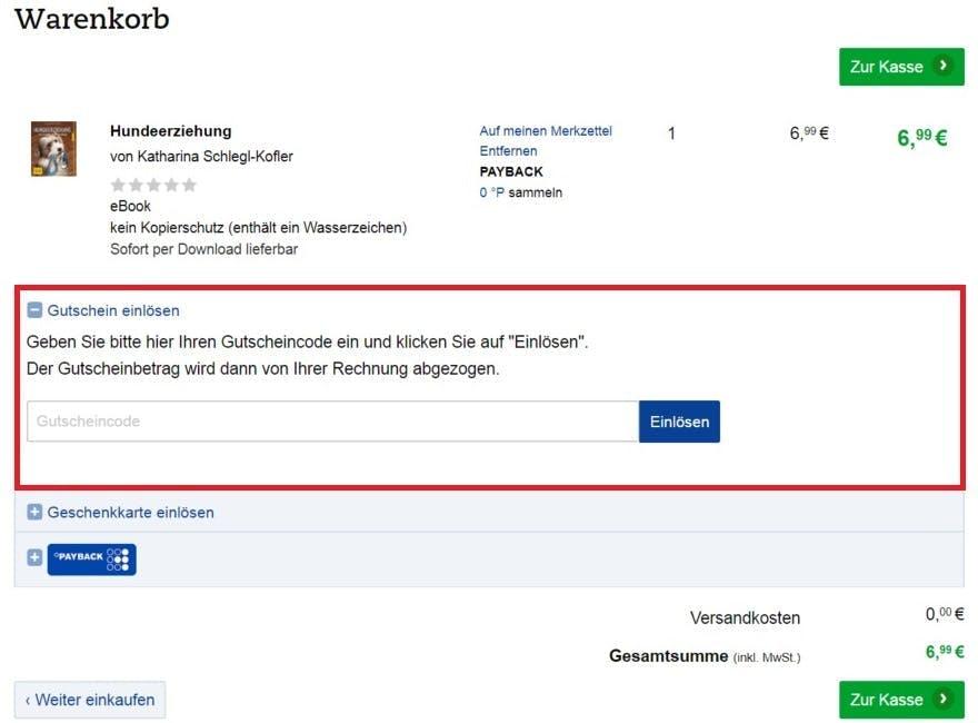 Thalia Gutschein Neukunde