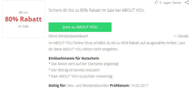 About You Gutscheincode 15