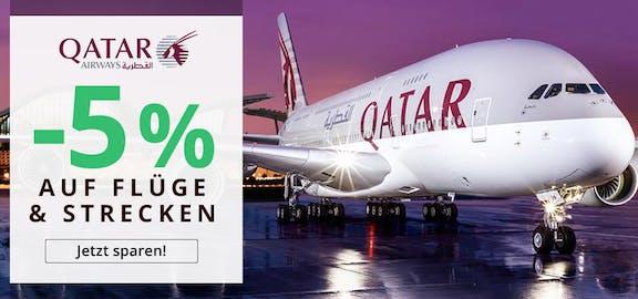 Qatar: 5% Gutschein