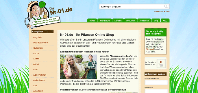 Pflanzenversand online dating