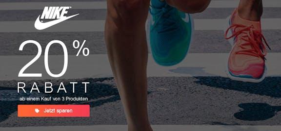 Nike: 20% Rabatt ab 3