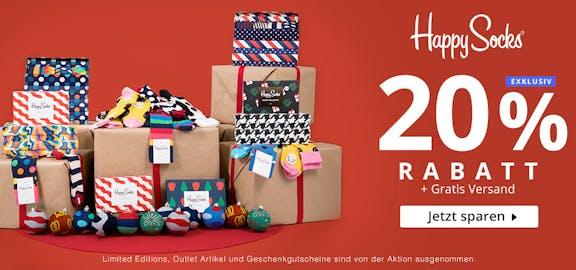 Happy Socks 20% + gratis Versand