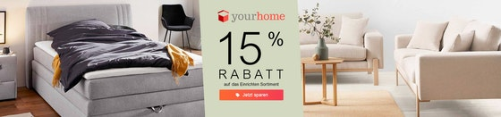 yourhome: 15% Rabatt