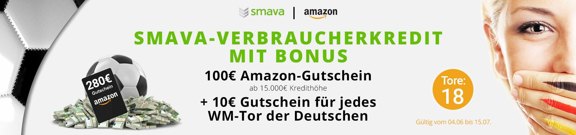 Coole Smava-Aktion: 15.000€ Kredit sichern und bei Deutschland-Toren abkassieren